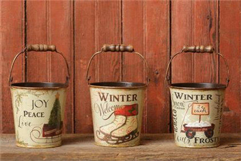 Tin Buckets - Winter Welcome