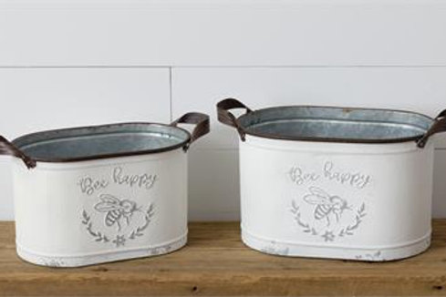 Embossed Containers - Bee Happy (2Pk)