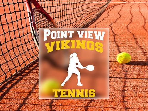 Girls Tennis Decal