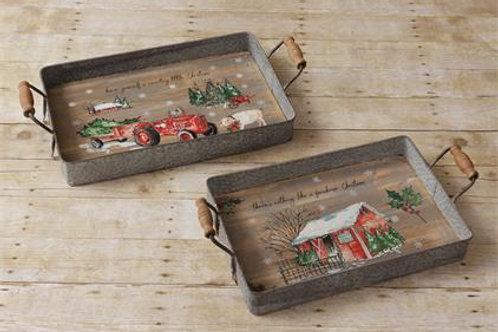 Trays - Farmhouse Christmas, Country Christmas
