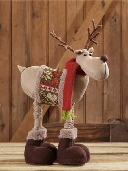 Standing Deer Sweater And Red Scarf