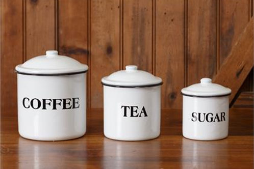 Enamel Canisters (Set of 3)