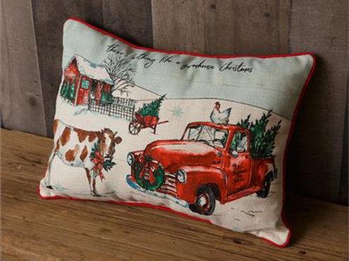 Pillow - Farmhouse Christmas, Led