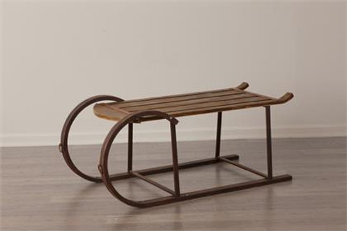 Coffee Table - Wooden Sleigh