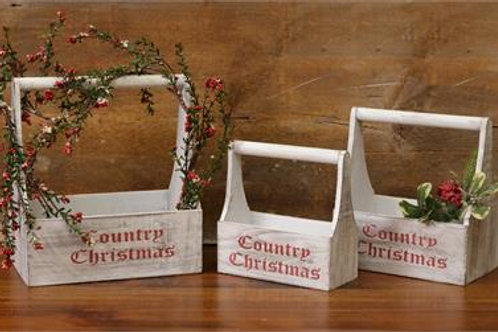 Nesting Bins - Wooden Country Christmas