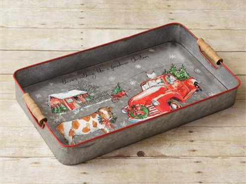 There's Nothing Like A Farmhouse Christmas  - Tray