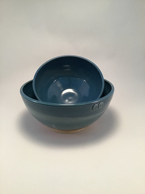 Large and Small Teal Bowl