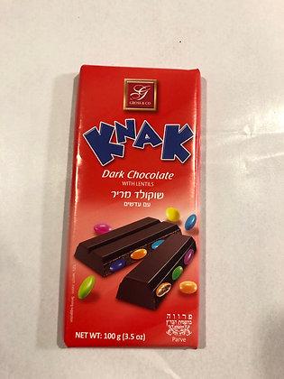 Chocolat noir et smarties