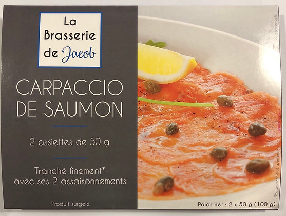 Carpaccio de saumon surgelé