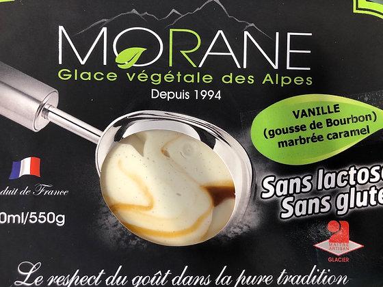 Glace vanille marbré caramel
