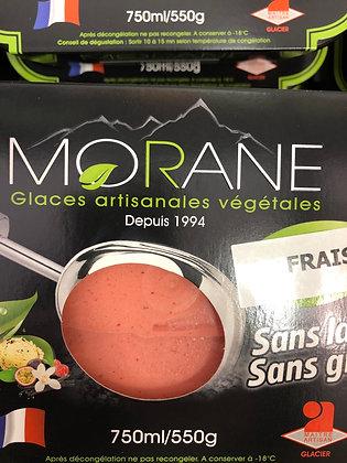 Glace morane fraise ( pessah )