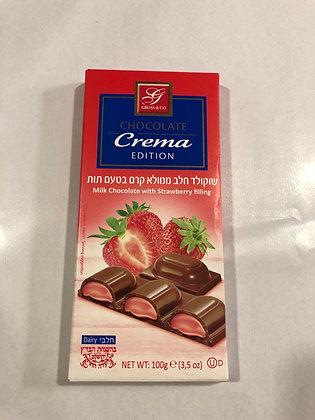 Chocolat au lait fourre a la fraise