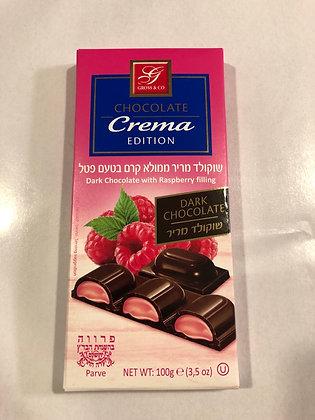 Chocolat noir fourre a la framboise
