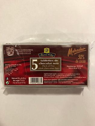 5 Tablettes de chocolat ( casher pessah)