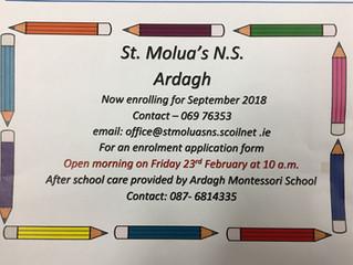 Enrolling for September 2018