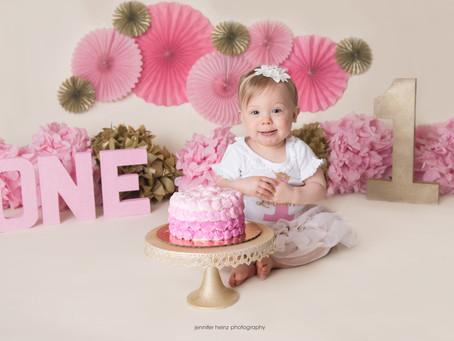 Pinkalicious Cake Smash { Yardley, Pa}