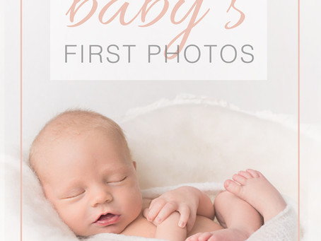 Simple tips for capturing your baby's first photos { Jennifer Heinz Photography }