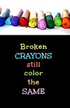 Broken Crayons - Gag Book (Front and Bac
