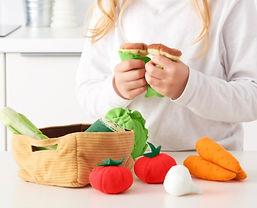 Soft Fabric Vegetable Basket Toys-Abridg