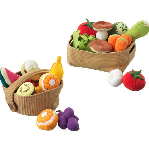 23 pc Soft Fabric Fruit & Vegetable - Play Food Set COMBO