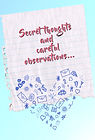 Secret thoughts (lined paper)- (Front an