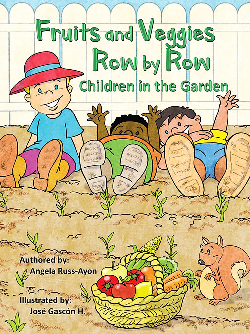 Fruits and Veggies Row by Row - Paperback Picture Book