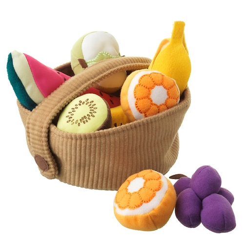 9 pc Soft Fabric Fruit Set - Play Food