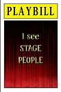PLAYBILL - I see stage people (Front and