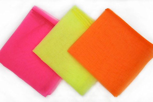 Qty. 24 Juggling Scarves - 3 Assorted Colors