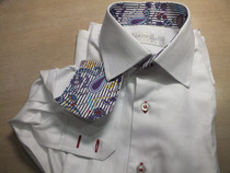 white shirt with designs