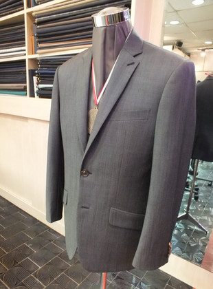grey business suit