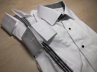 white shirt with stripe design