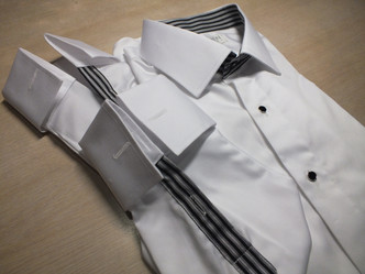 white shirt with stripe design