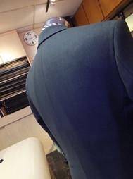bluish grey business suit