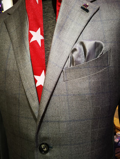 Perfect grey suit front view