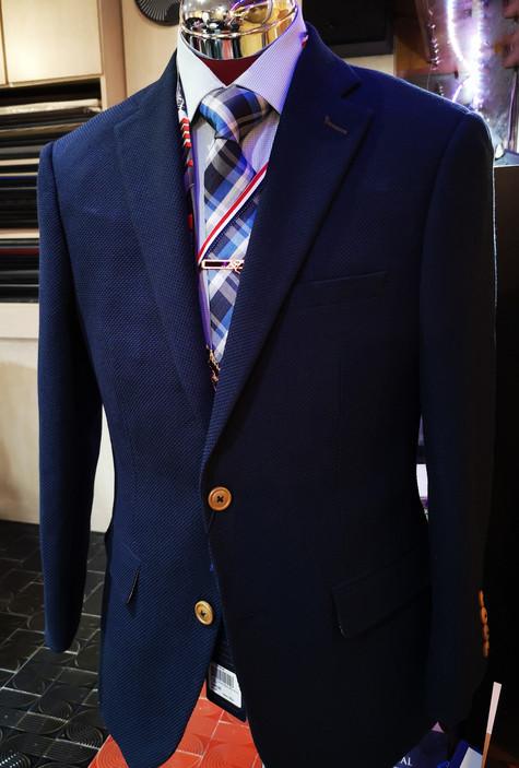 Blue business suit