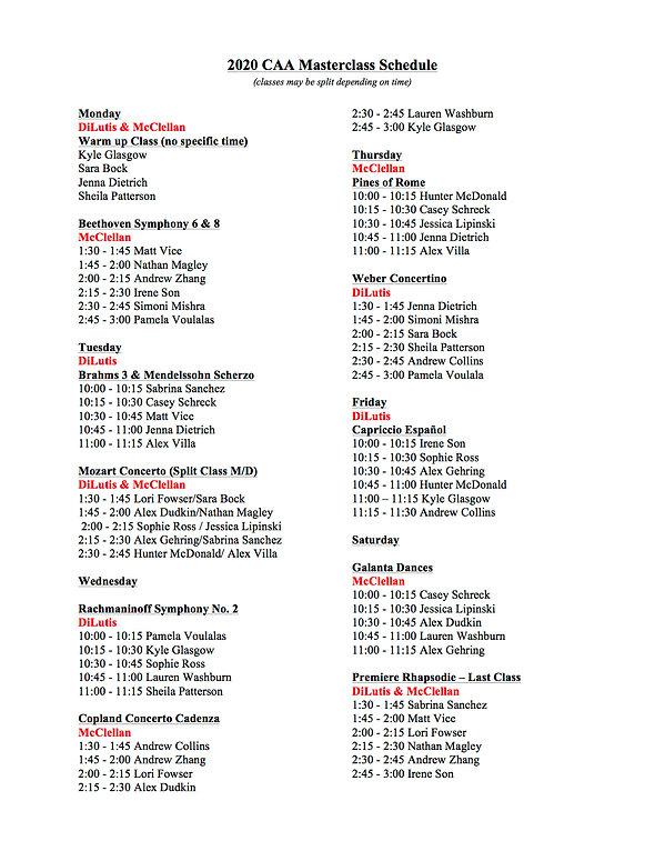 2020 CAA Masterclass Schedule 7.03.20.jp