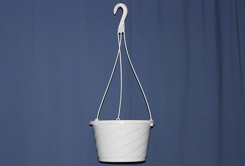 Hanging Basket White 10""