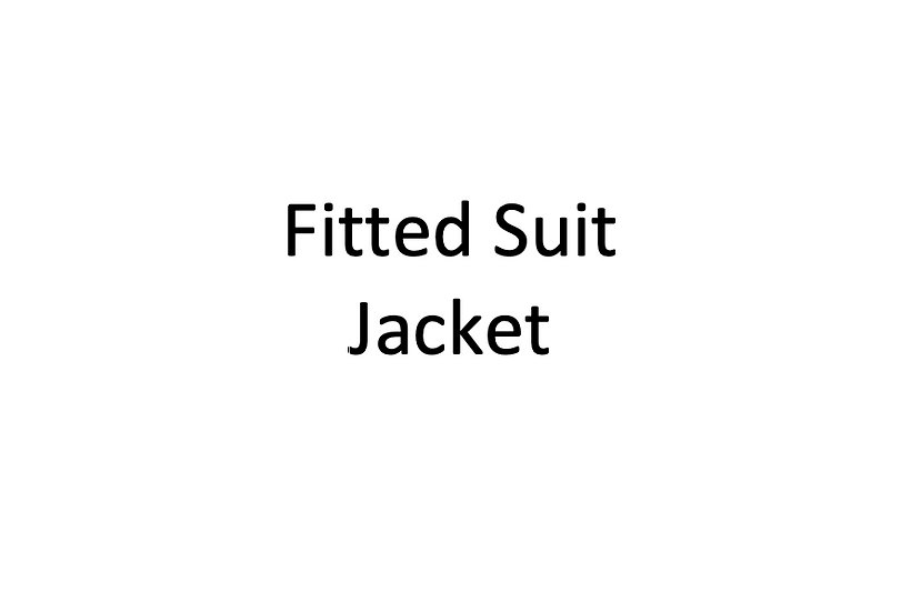 Fitted Suit Jacket (Male)
