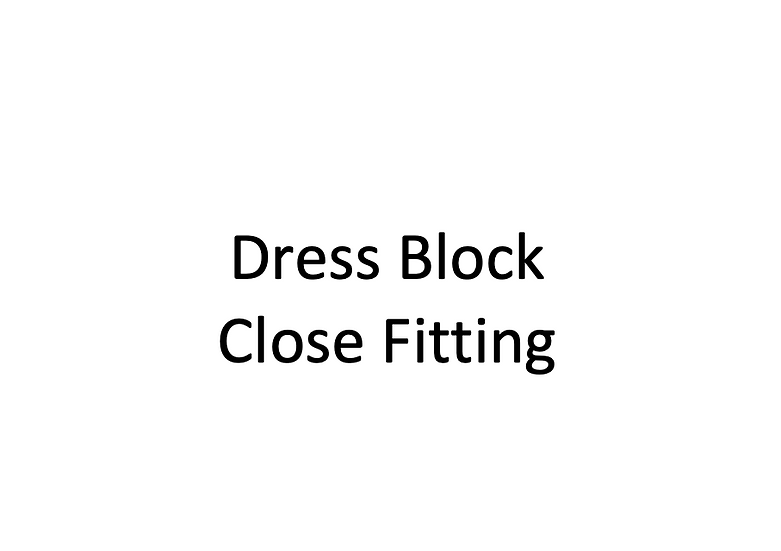 Close Fitting Dress Block with Sleeve (Female)