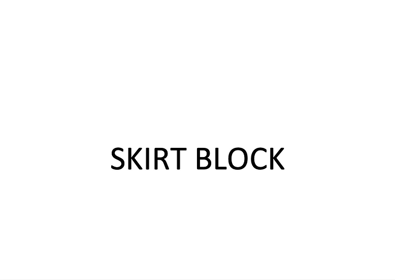 Skirt Block (Female)