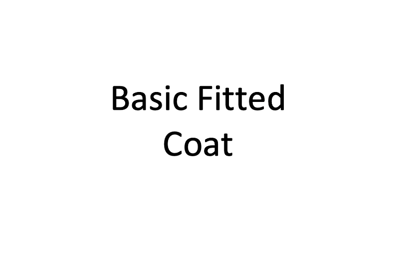 Basic Fitted Coat (Male)