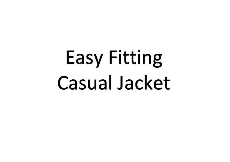 Easy Fitting Casual Jacket (Male)