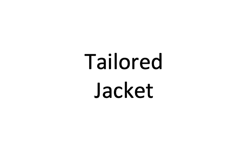 Tailored Jacket Block -2 Sleeve Variations (Female)