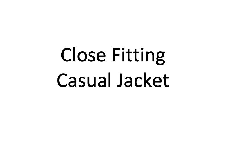 Close Fitting Casual Jacket (Male)