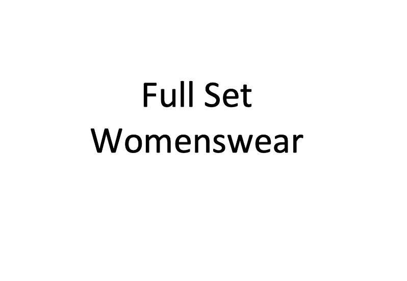 Full Set Womenswear Blocks
