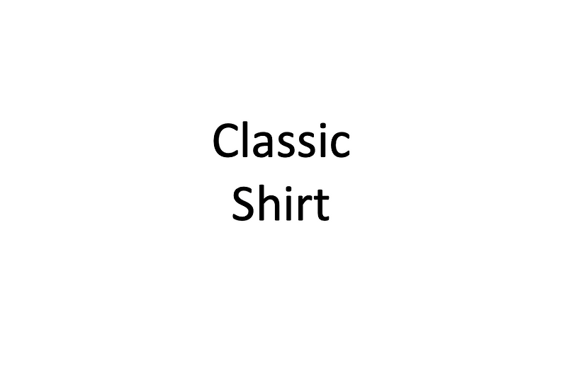 Classic Shirt (Male)