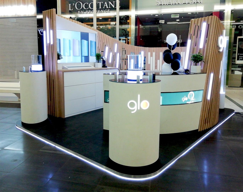 Рекламные промо-стенды «GLO»