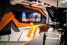 Комплексное оформление студии телевидения СЭТ в Хабаровске