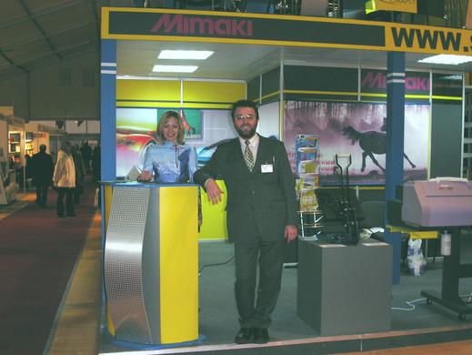 Стенд компании Смарт-Т на выставке Полиграфинтер-2003